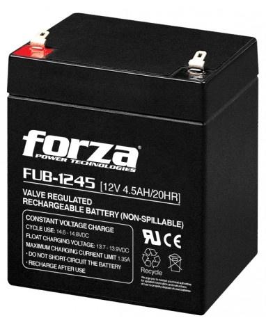 Forza Power Technologies Batería de Reemplazo para UPS FUB-1245, 12V, 4500mAh