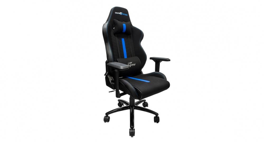 Game Factor Silla Gamer CGC601, hasta 150Kg, Negro/Azul
