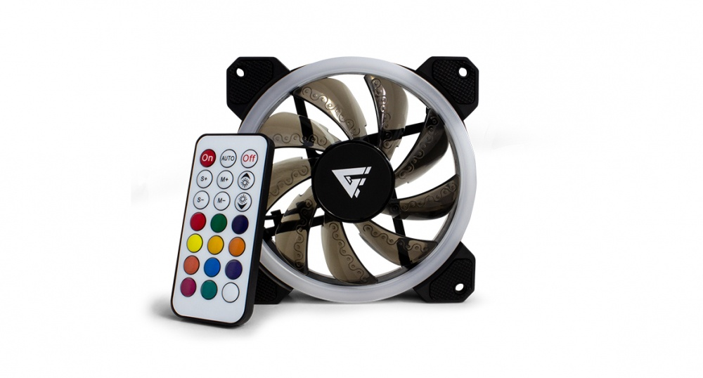 Ventilador Game Factor FKG400 RGB, 120mm, 1500RPM, Negro - 3 Piezas