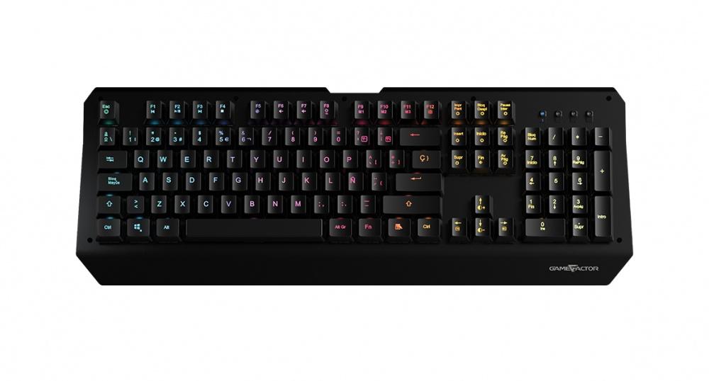 Teclado Gamer Game Factor KBG601 RGB, Teclado Mecánico, Switch Óptico, Alámbrico, Negro (Español)