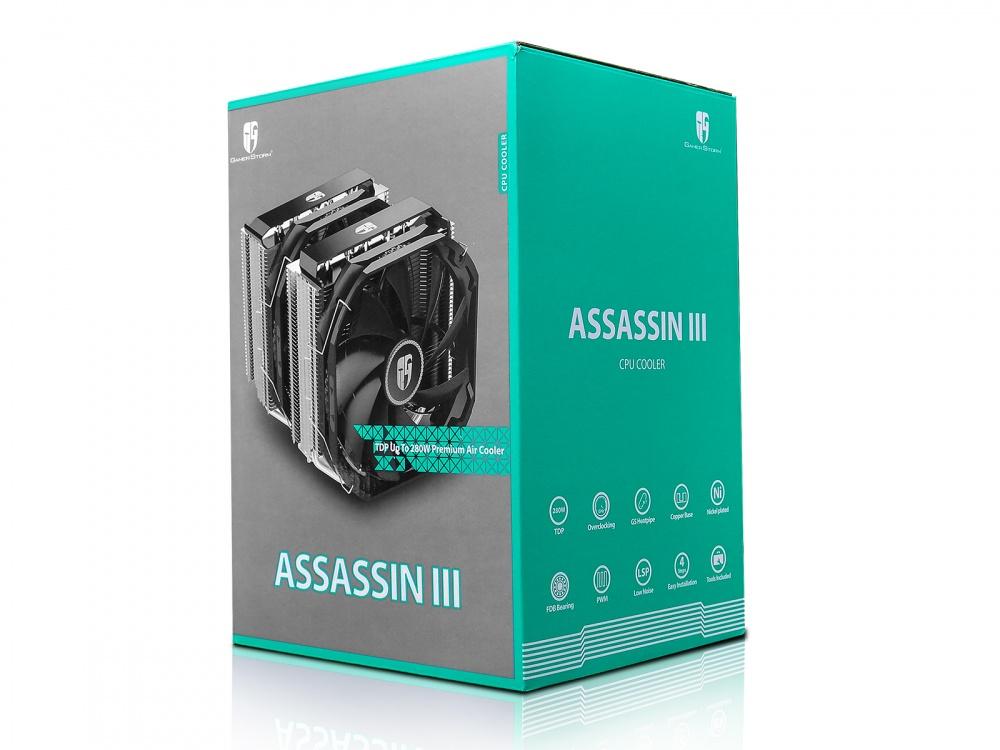 Disipador CPU Gamer Storm Assassin Ⅲ, 140mm, 400-1400RPM, Negro/Plata