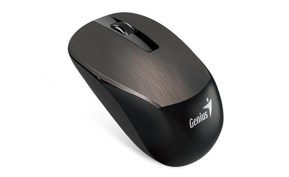 Mouse Genius BlueEye NX-7015, Inalámbrico, 1600DPI, Negro/Marrón