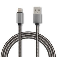 Ghia Cable USB Macho - Lighting Macho, 1 Metro, Gris