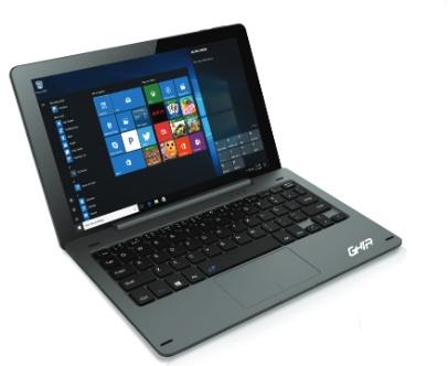 Ghia 2 en 1 Only Due 10.1'', Intel Atom x5-Z8350 1.44GHz, 2GB, 32GB, Windows 10, Negro