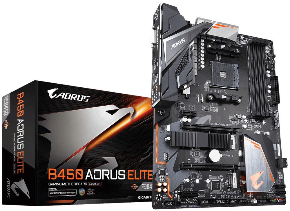Tarjeta Madre AORUS ATX B450 AORUS ELITE, S-AM4, AMD B450, HDMI, 64GB DDR4 para AMD