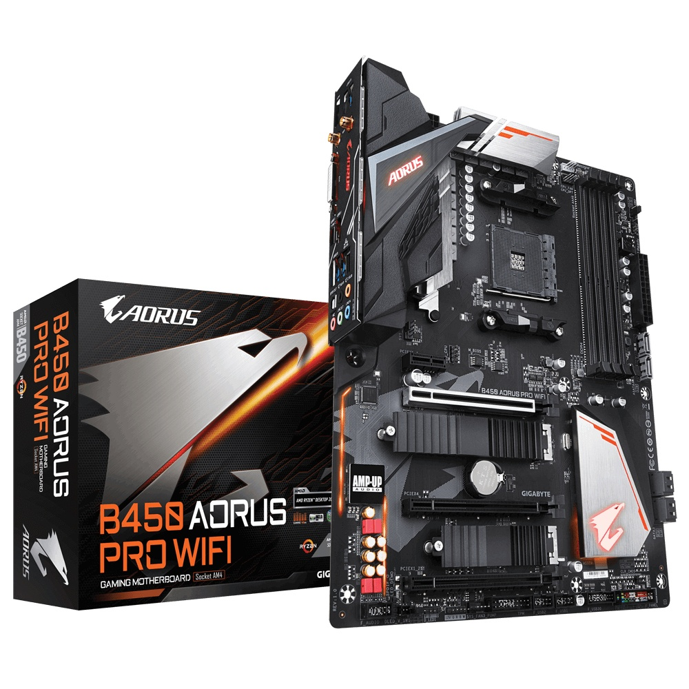 Tarjeta Madre AORUS B450 AORUS PRO WIFI, S-AM4, AMD B450, HDMI, 64GB DDR4 para AMD