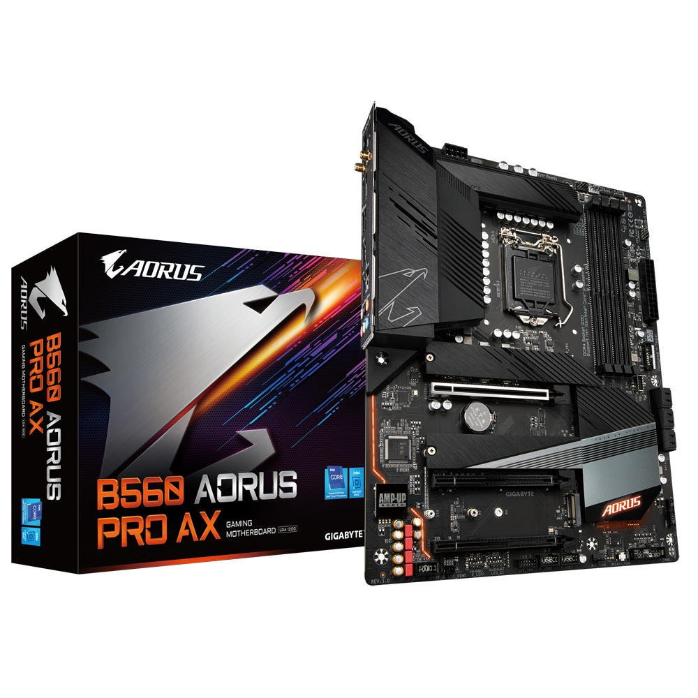 Tarjeta Madre Gigabyte ATX B560 AORUS PRO AX, S-1200, Intel B560, HDMI, 128GB DDR4 para Intel