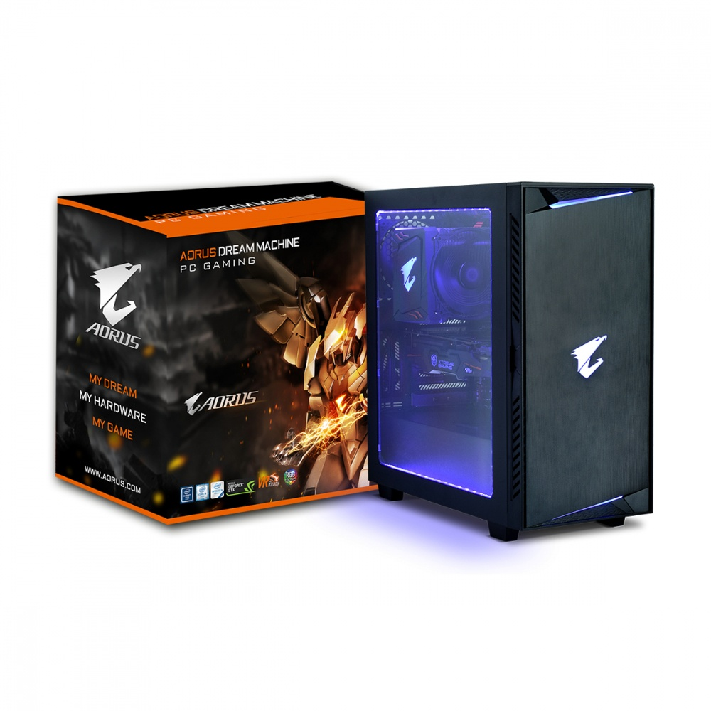 Computadora Gamer AORUS Dream Machine, Intel Core i5 8400 2.80GHz, 8GB, 1TB + 256GB SSD, NVIDIA GeForce GTX 1060 6GB, Windows 10 Home 64-bit