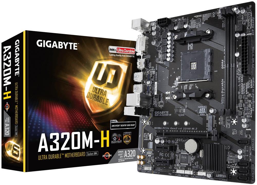 Tarjeta Madre Gigabyte Micro ATX GA-A320M-H, S-AM4, AMD A320, HDMI, 32GB DDR4 para AMD ― Requiere Actualización de BIOS para la Serie Ryzen 3000