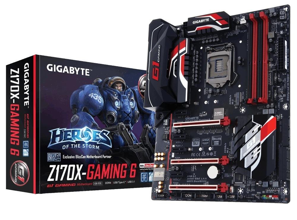 Tarjeta Madre Gigabyte ATX GA-Z170X-GAMING 6, S-1151, Intel Z170, HDMI, 64GB DDR4, para Intel ― Requiere Actualización de BIOS para trabajar con Procesadores de 7ma Generación