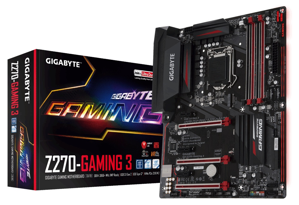 Tarjeta Madre Gigabyte ATX GA-Z270-Gaming 3, S-1151, Intel Z270, HDMI, 64GB DDR4, para Intel