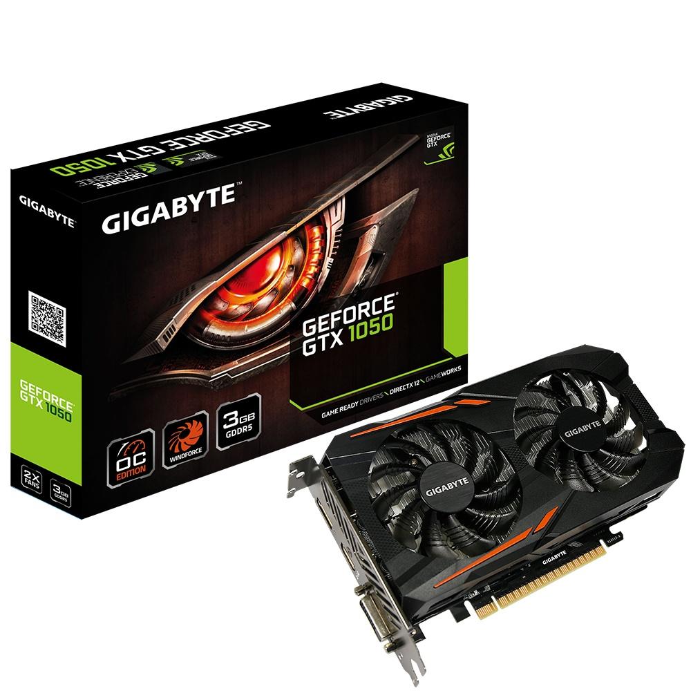 Tarjeta de Video Gigabyte NVIDIA GeForce GTX 1050 OC, 3GB 96-bit GDDR5, PCI Express 3.0