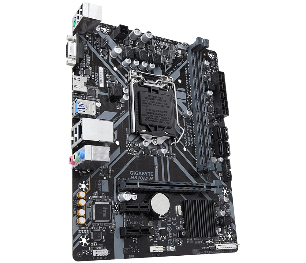 Tarjeta Madre Gigabyte micro ATX H310M H, S-1151, Intel H310, HDMI, 32GB DDR4 para Intel ― Compatibles solo con 8va y/o  9va Generación (Revisar modelos aplicables)