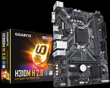 Tarjeta Madre Gigabyte Micro ATX H310M H 2.0 (Rev. 1.0), S-1151, Intel H310, HDMI, 32GB DDR4 para Intel ― Compatibles solo con 8va y/o  9va Generación (Revisar modelos aplicables)
