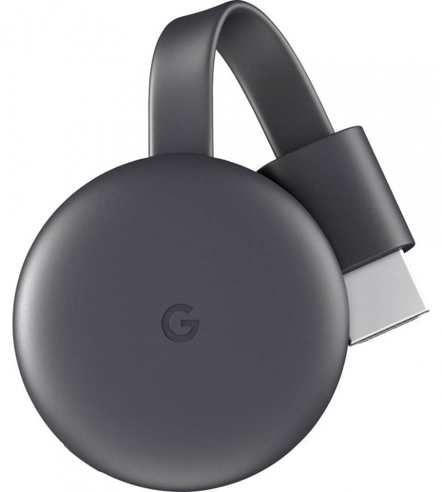 Google Kit Chromecast Gen 3, Full HD, WiFi, HDMI, Negro (Inglés) ― Incluye Google Home Mini