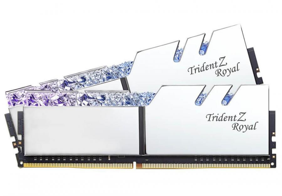 Kit Memoria RAM G.Skill Trident Z Royal DDR4 Silver, 3000MHz, 16GB (2 x 8GB), Non-ECC, CL16, XMP