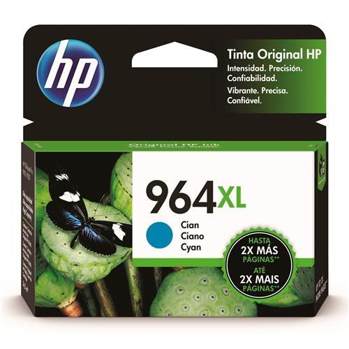 Cartucho HP 964XL Alto Rendimiento Cyan Original, 1600 Páginas
