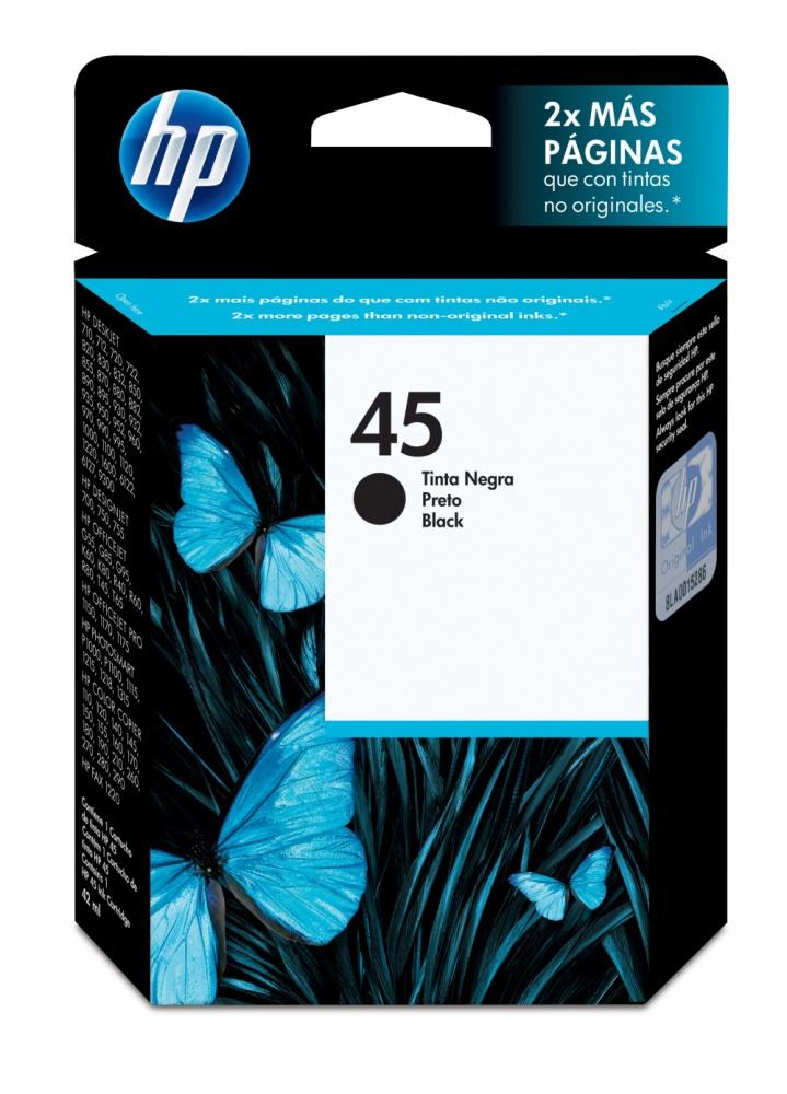Cartucho HP 45 Negro, 930 Páginas