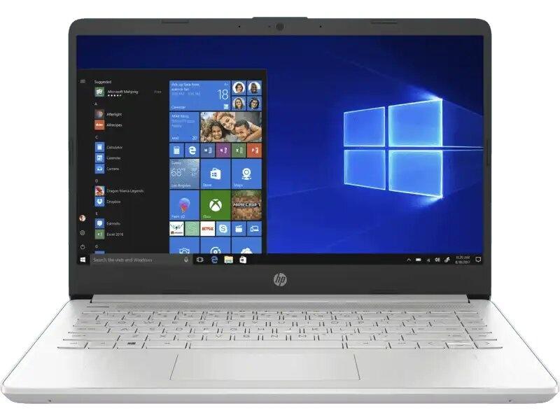 "Laptop HP 14-dq1003la 14"" HD, Intel Core i5-1035G1 1Ghz, 4GB, 16GB Optane, 256GB SSD, Windows 10 Home 64-bit, Plata"