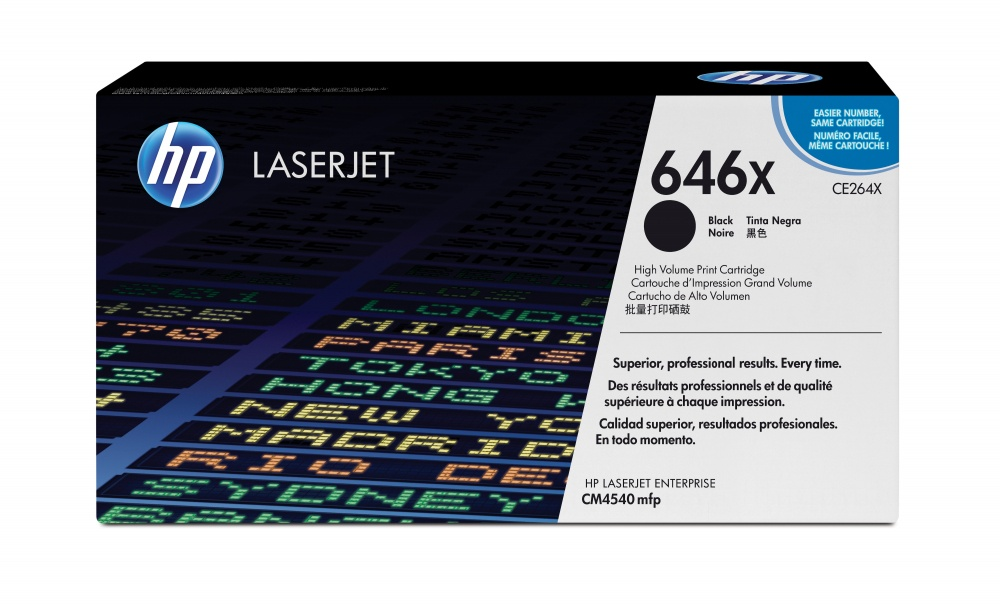 Tóner HP 646X Negro Original, 17.000 Páginas