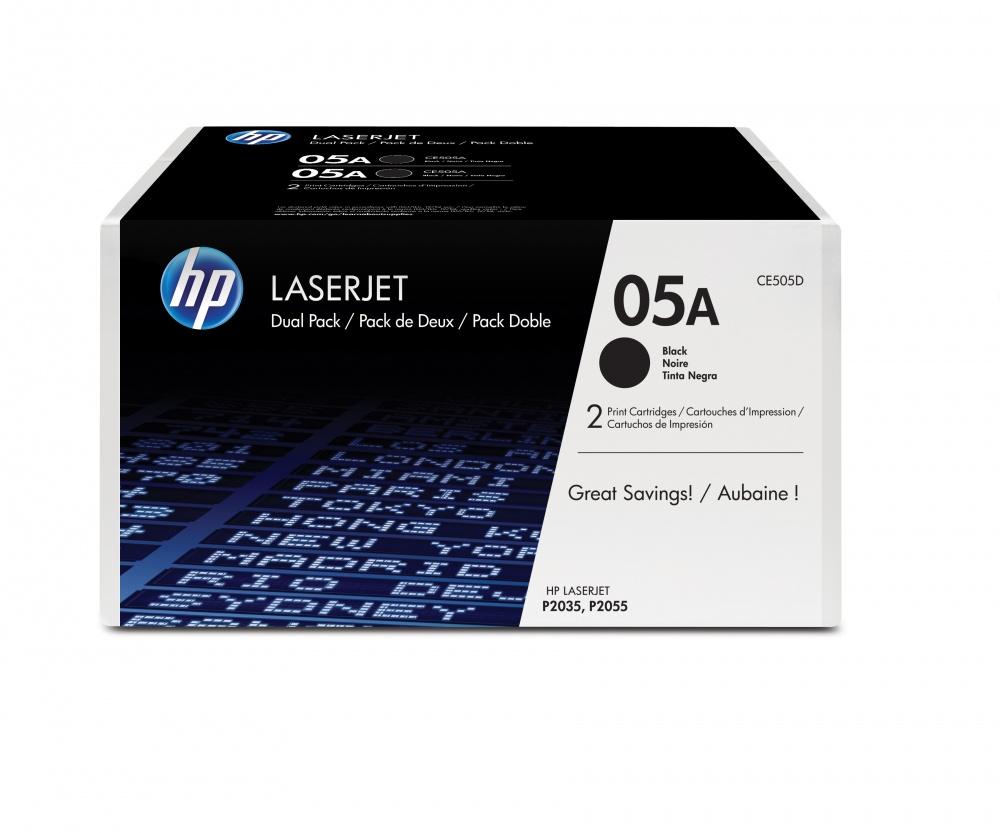 Tóner HP 05A Paquete Doble Negro, 2x 2300 Páginas ― ¡Compra y recibe 5% del valor de este producto en saldo para tu siguiente pedido!