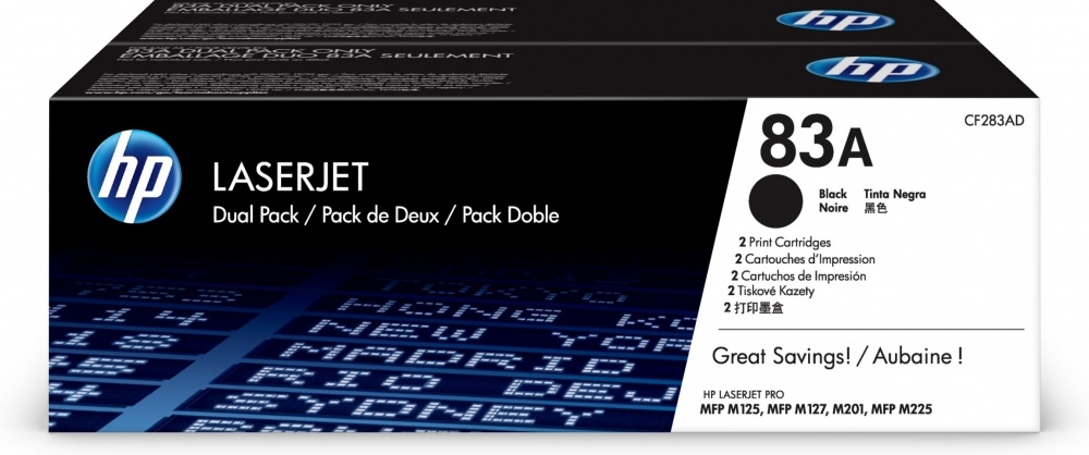 Tóner HP 83A Paquete Doble Negro Original, 2x 1500 Páginas