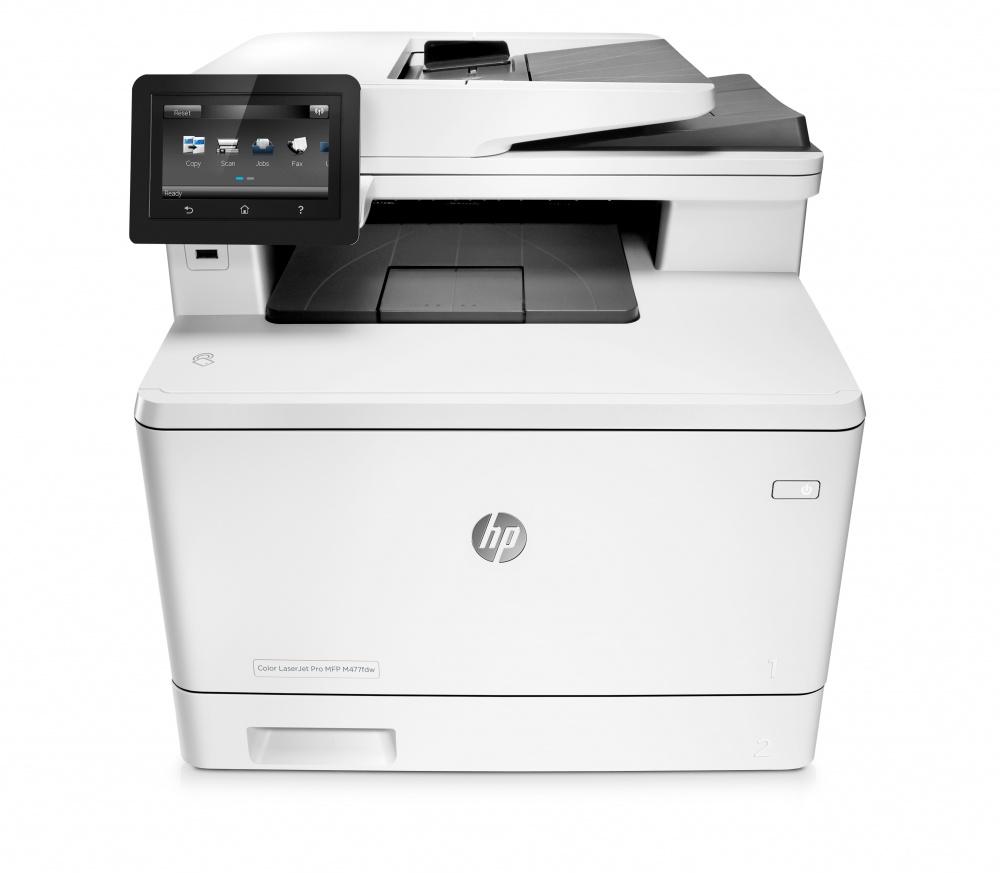 Multifuncional HP LaserJet Pro MFP M477fdw, Color, Láser, Inalámbrico, Print/Scan/Copy/Fax