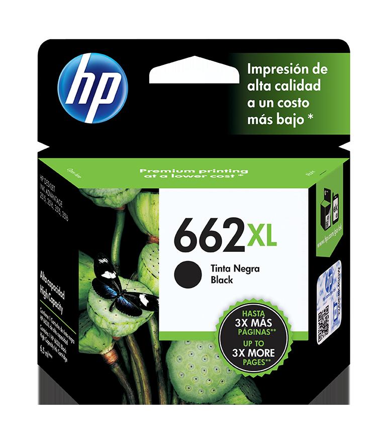 Cartucho HP 662XL Negro, 360 Páginas
