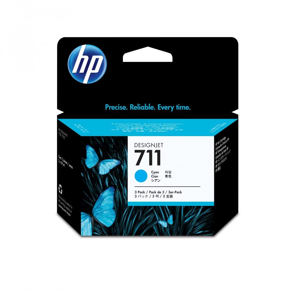 Cartucho HP 711 Paquete Triple Cyan 29ml
