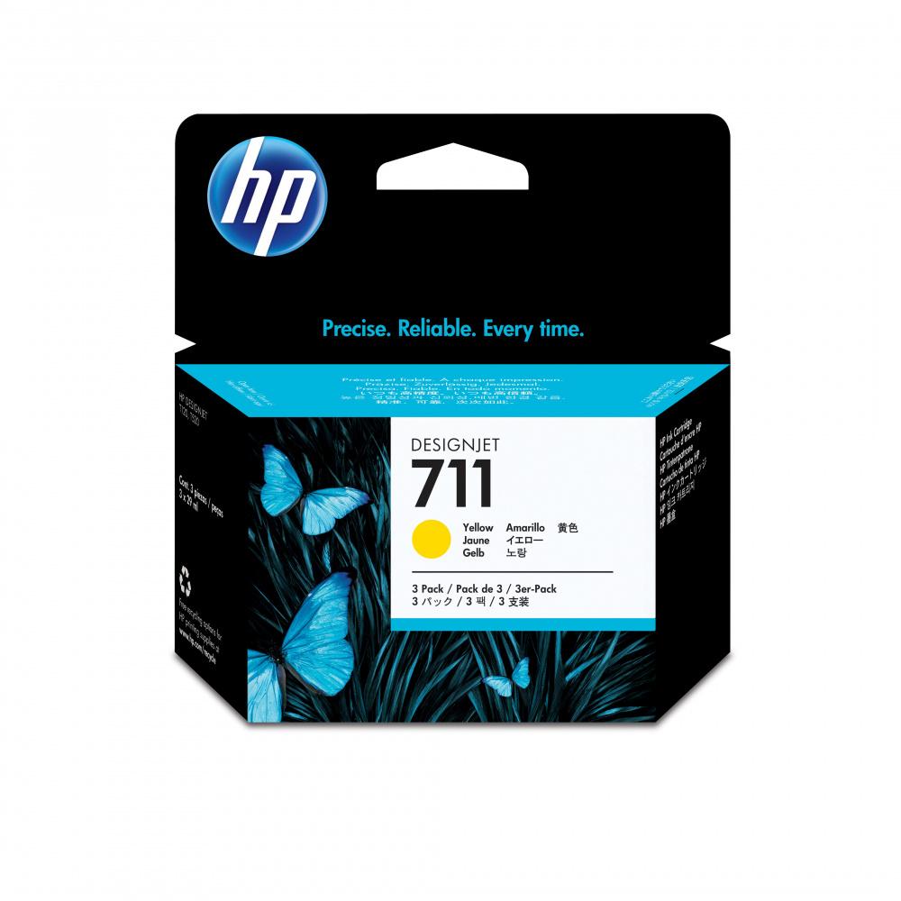 Cartuchos HP 711 Paquete Triple Amarillo 29ml