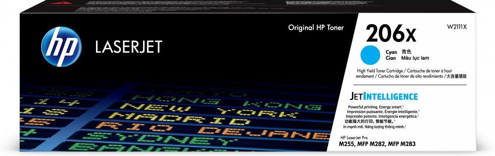 Tóner HP 206X Cyan Original, 2450 Páginas
