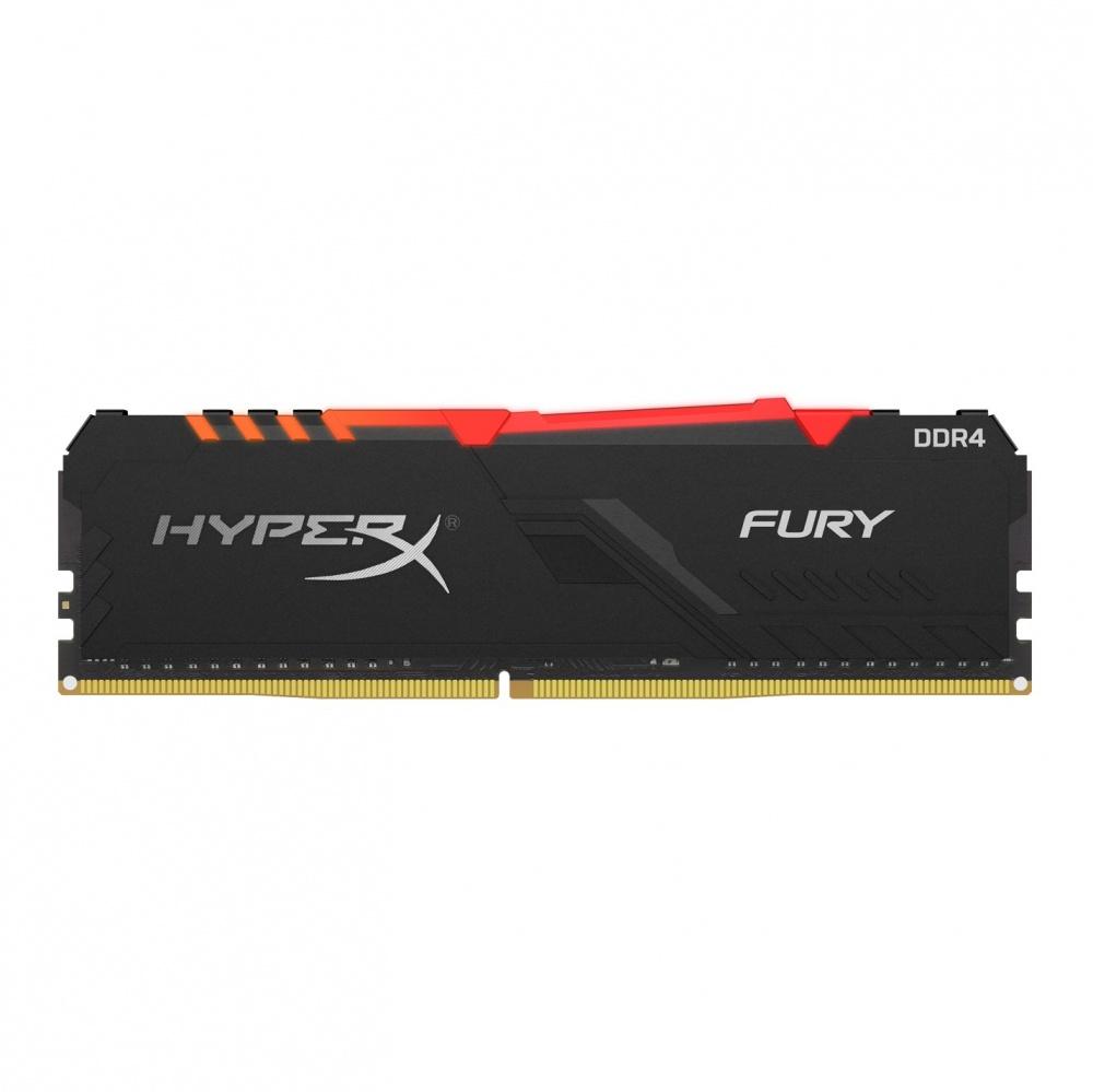 Memoria RAM HyperX Fury RGB DDR4, 2400MHz, 8GB, CL15, Non-ECC, XMP