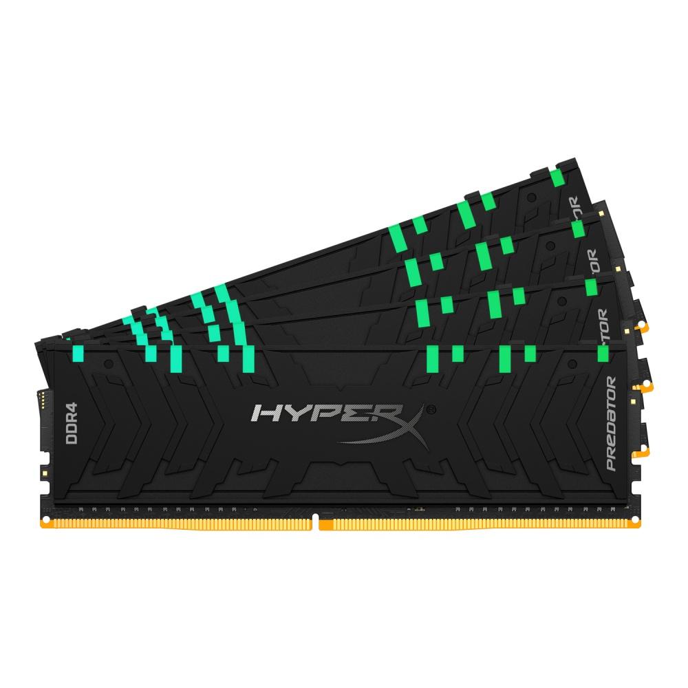 Memoria RAM HyperX Predator RGB DDR4, 2933MHz, 32GB (4 x 8GB), Non-ECC, CL15, XMP