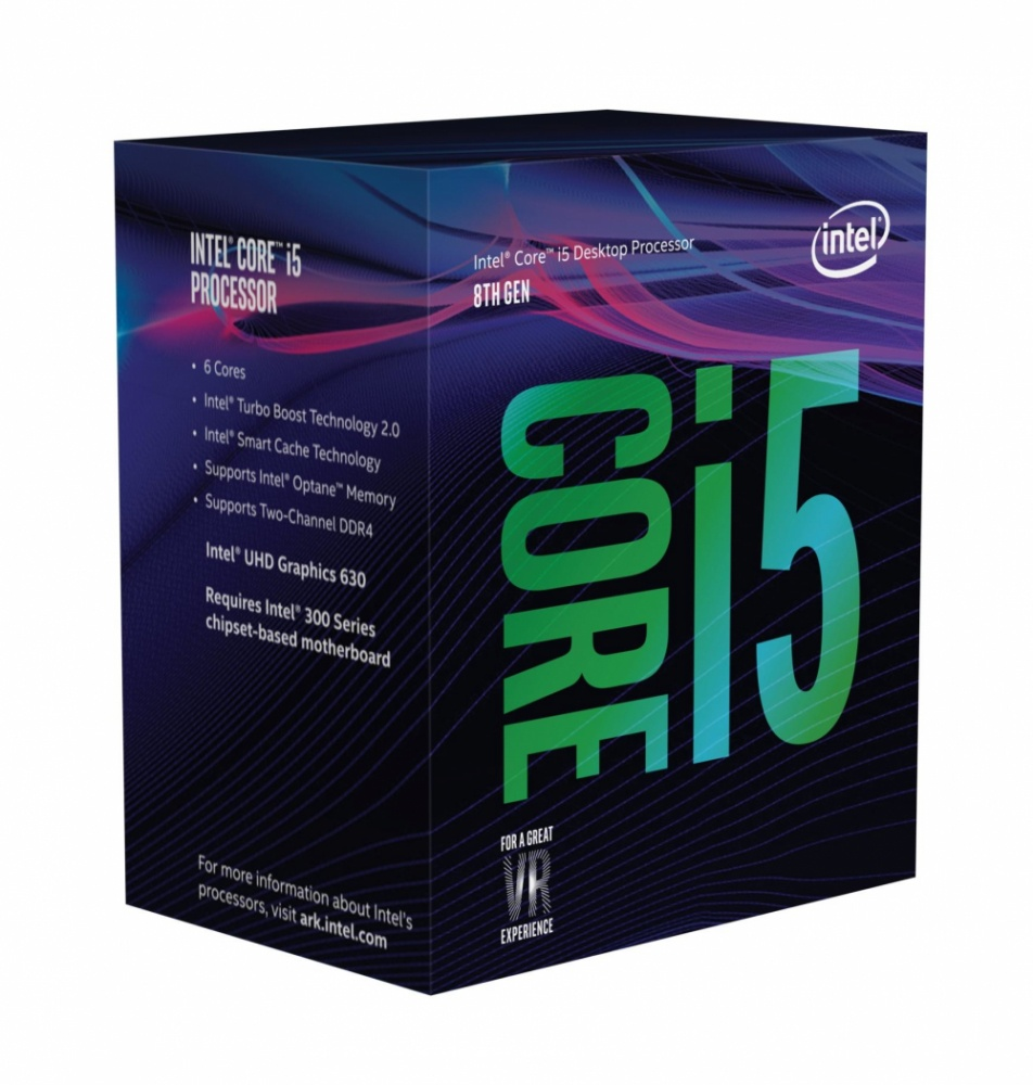 Procesador Intel Core i5-8600, S-1151, 3.10GHz, Six-Core, 9MB Smart Cache (8va. Generación Coffee Lake) ― Compatible solo con tarjetas madre serie 300