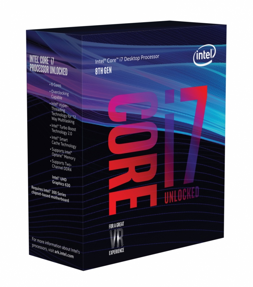 Procesador Intel Core i7-8700K, S-1151, 3.70GHz, Six-Core, 12 MB Smart Cache (8va. Generación Coffee Lake) ― Compatible solo con tarjetas madre serie 300