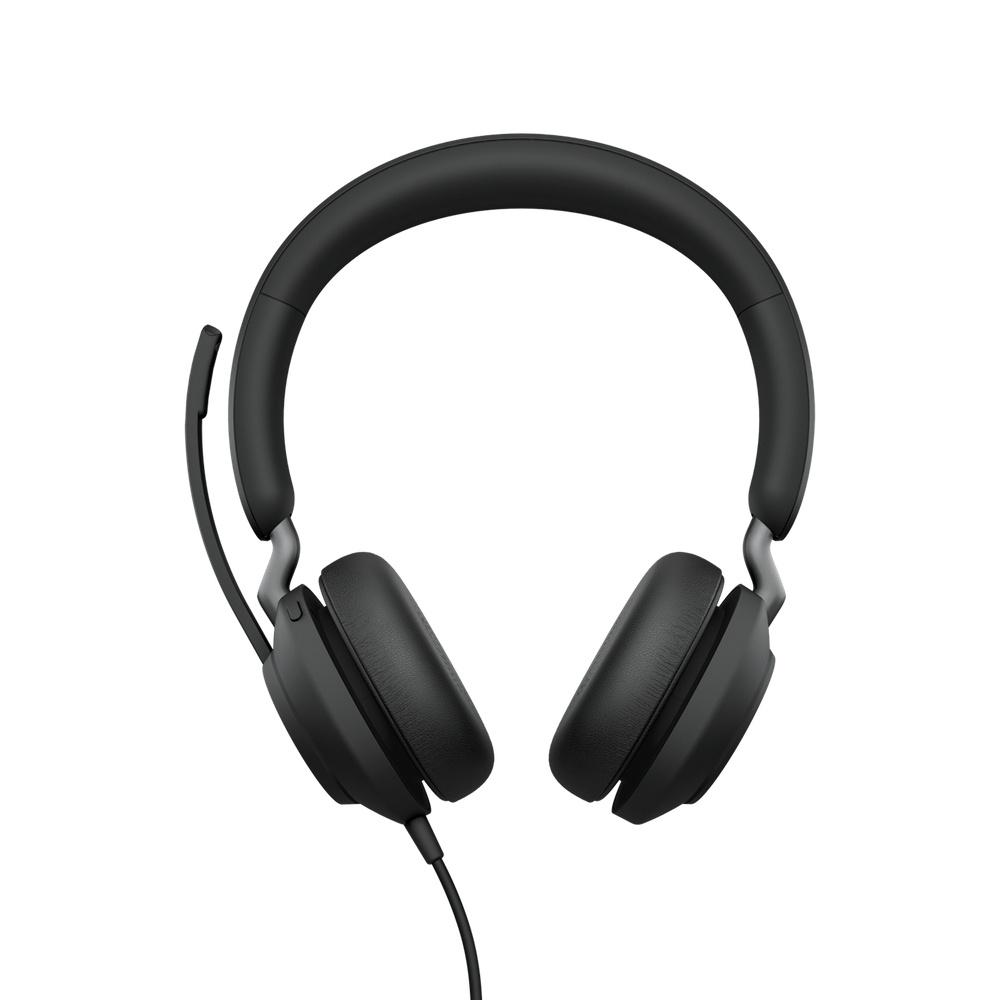 Jabra Auriculares Evolve2 40 MS Stereo, Alámbrico, USB, Negro
