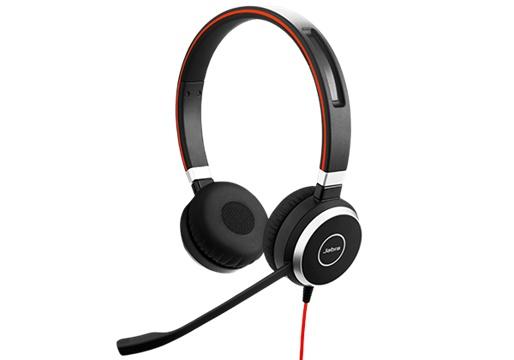 Jabra Audífonos con Micrófono Evolve 40 MS Stereo, Alámbrico, 3.5mm, USB, Negro