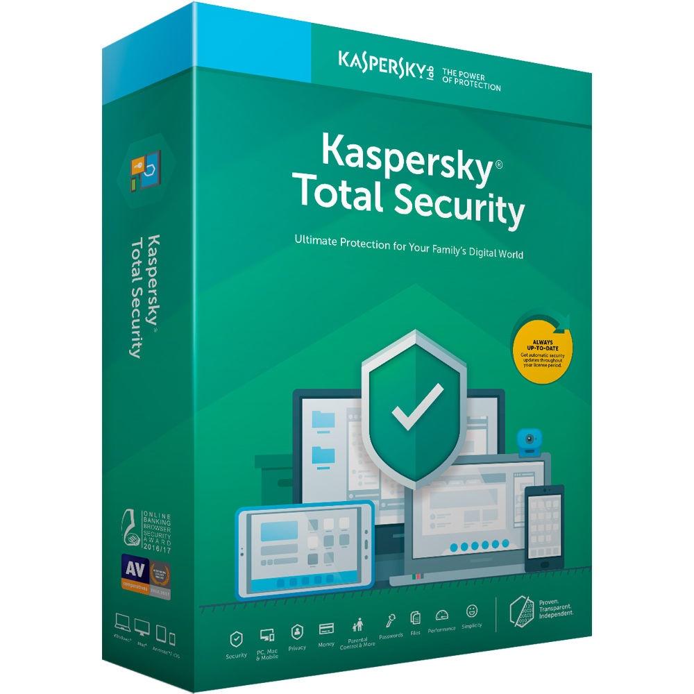 Kaspersky Total Security, 3 Licencias, 1 Año, Windows/Mac