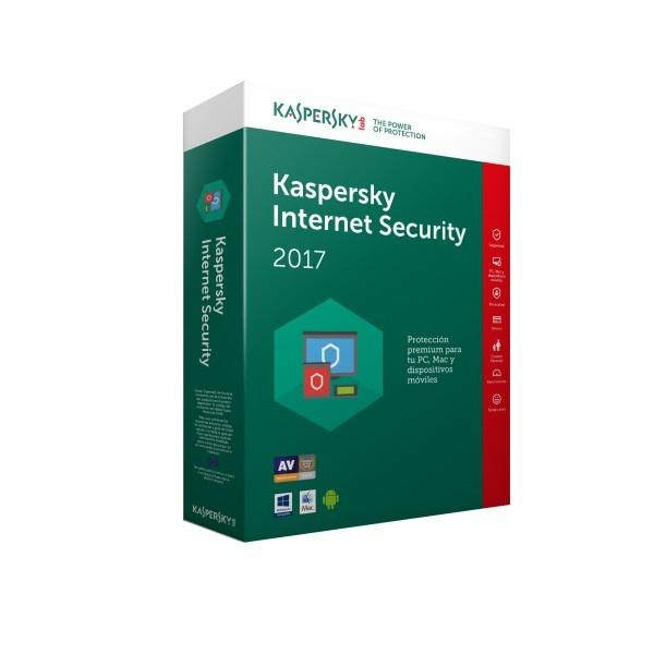Kaspersky Internet Security 2017, 3 Usuarios, 1 Año, Windows