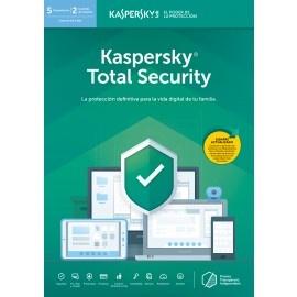 Kaspersky Total Security, 5 Dispositivos, 2 Cuentas KPM, 1 Cuenta KSK, 1 Año, Windows/Mac/Android/iOS ― Producto Digital Descargable
