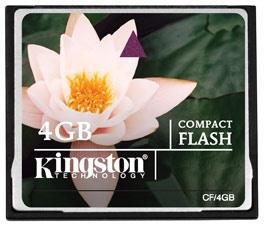 Memoria Flash Kingston, 4GB CompactFlash Card