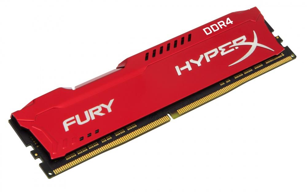 Memoria RAM HyperX Fury Red DDR4, 2400MHz, 8GB, CL15