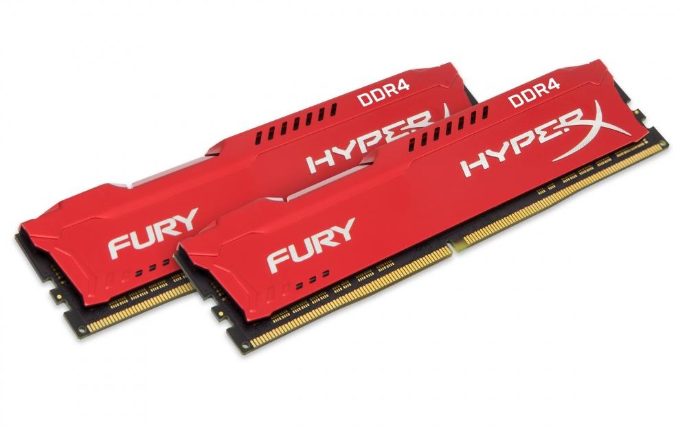 Memoria RAM HyperX Fury Red DDR4, 2666MHz, 16GB (2 x 8GB), Non-ECC, CL16