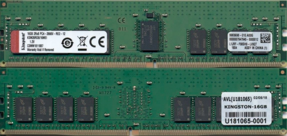 Memoria RAM Kingston DDR4, 2666MHz, 16GB, ECC, CL19