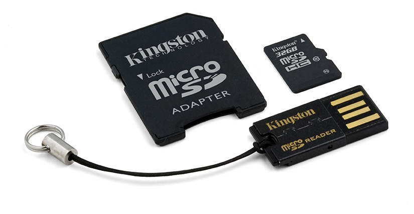 Kingston 32GB Multi Kit / Mobility Kit Class10, incl. Tarjeta microSDHC con Adaptadores SD y USB
