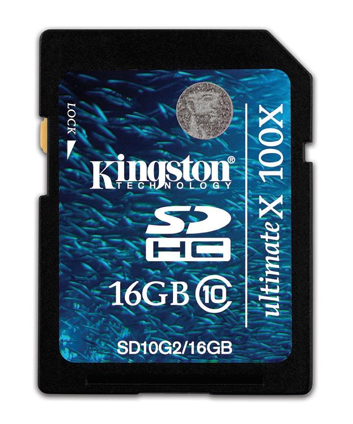 Memoria Flash Kingston G2, 16GB SDHC Clase 10