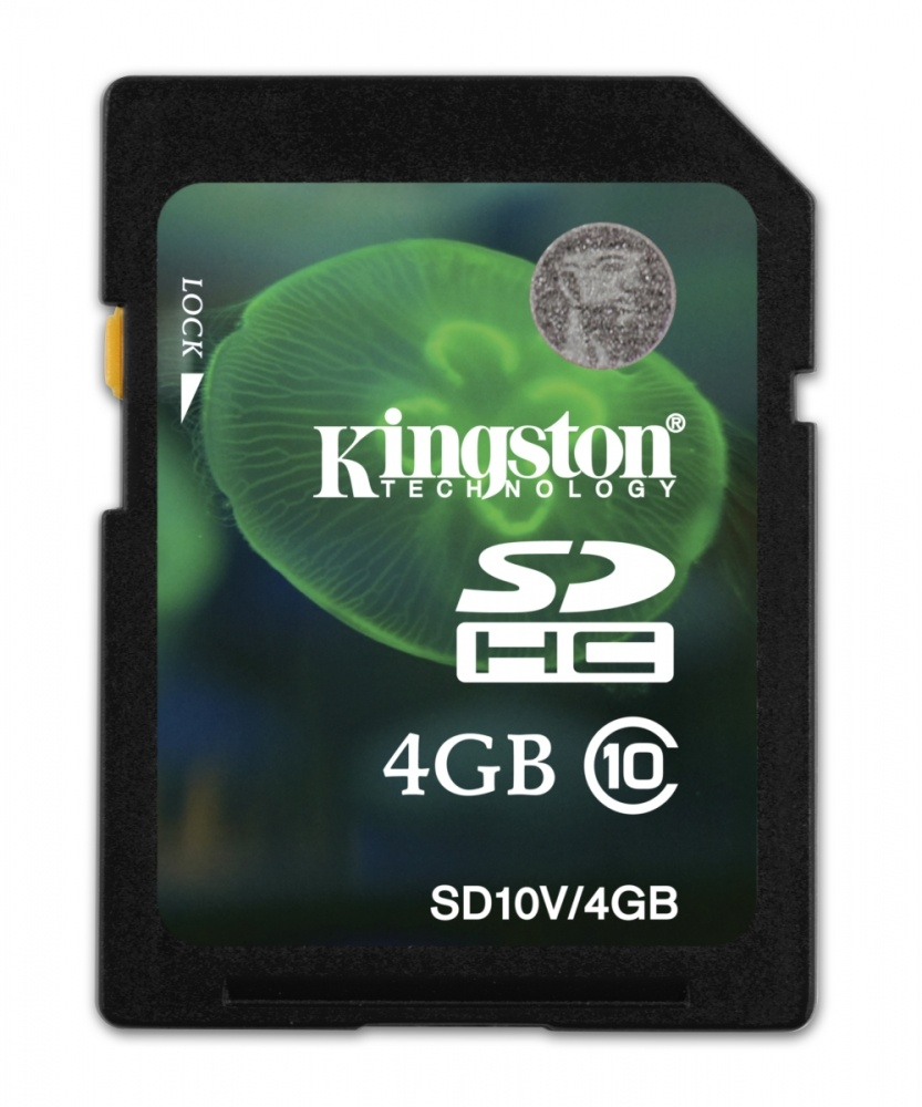 Memoria Flash Kingston, 4GB SDHC Clase 10 SD10V/4GB