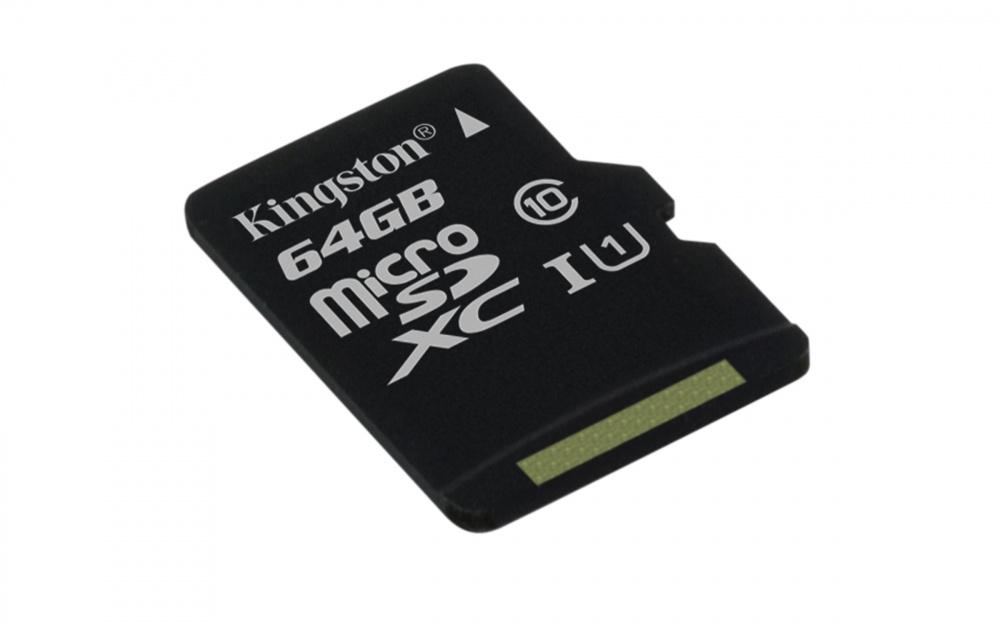 Memoria Flash Kingston, 64GB microSDXC Clase 10 UHS-I
