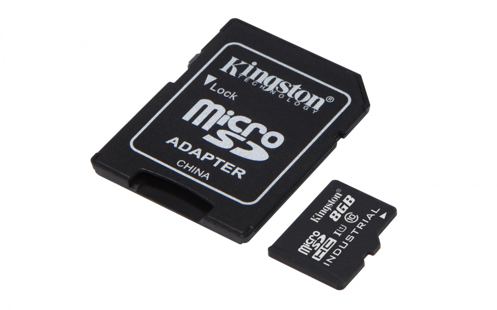 Memoria Flash Kingston, 8GB microSDHC UHS-I Clase 10 para Temperaturas Industriales, con Adaptador