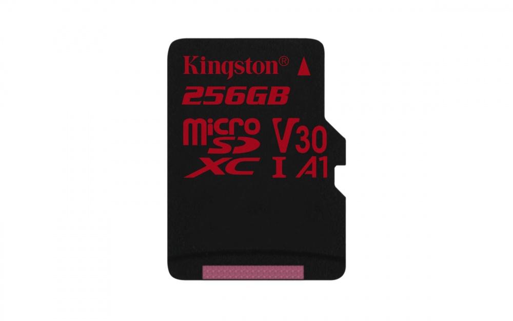Memoria Flash Kingston Canvas React, 256GB MicroSDXC USH-I Clase 10, con Adaptador